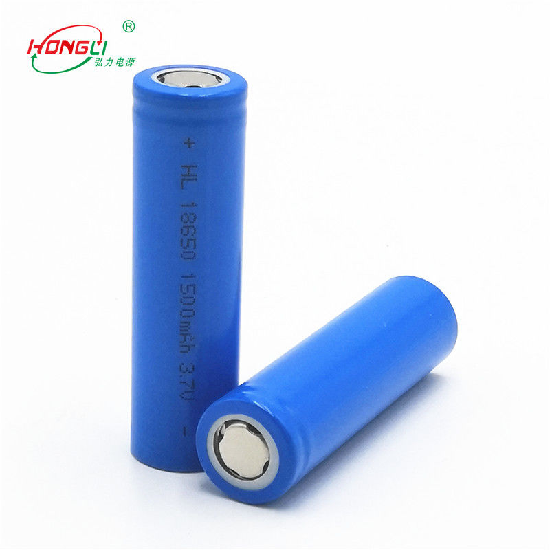 1500mAh 18650 3.7V Lithium Ion Cell With 300 Cycles Long Life